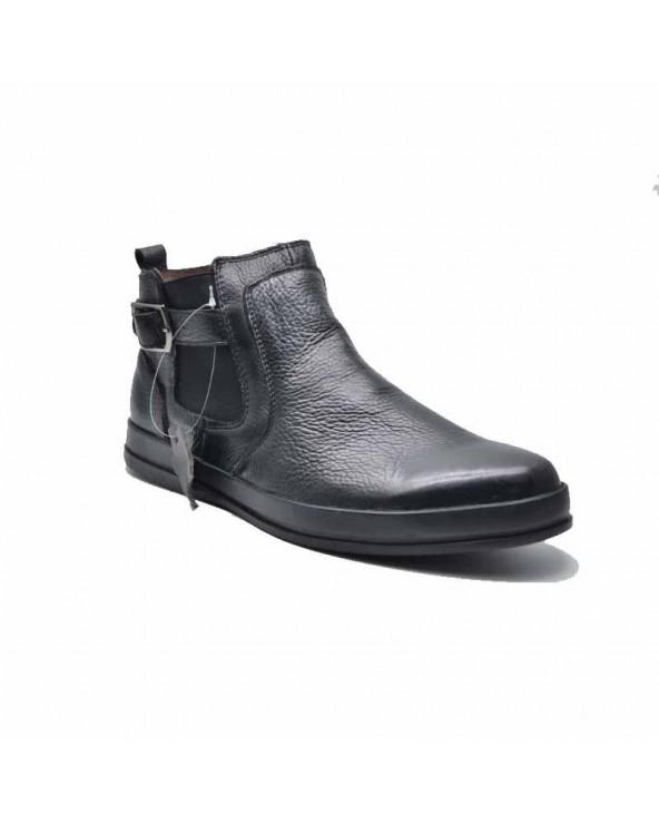 Boots cuir avec boucle