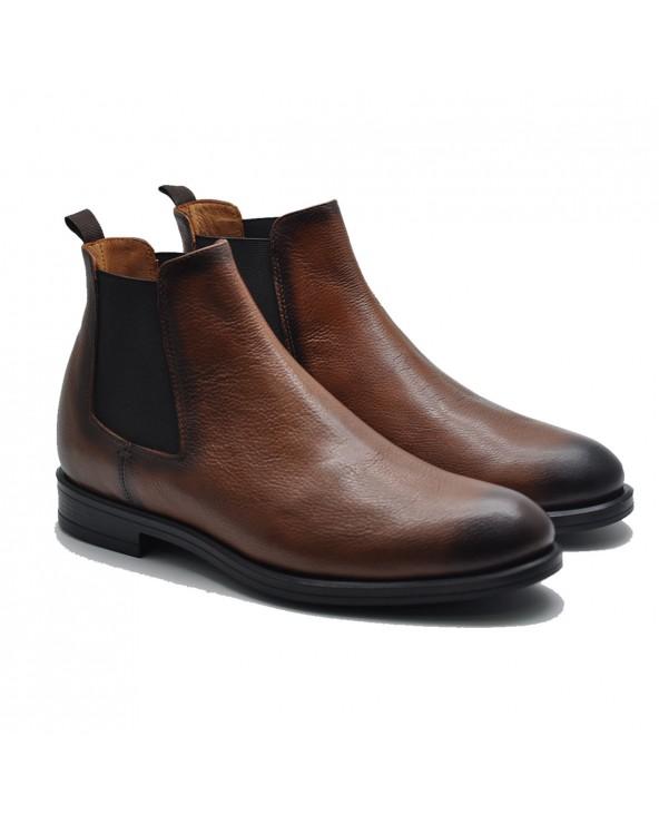 Boots Cuir Élastique _ CAMEL