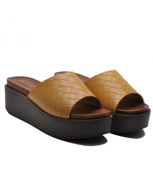 Sandales compensées _JAUNE